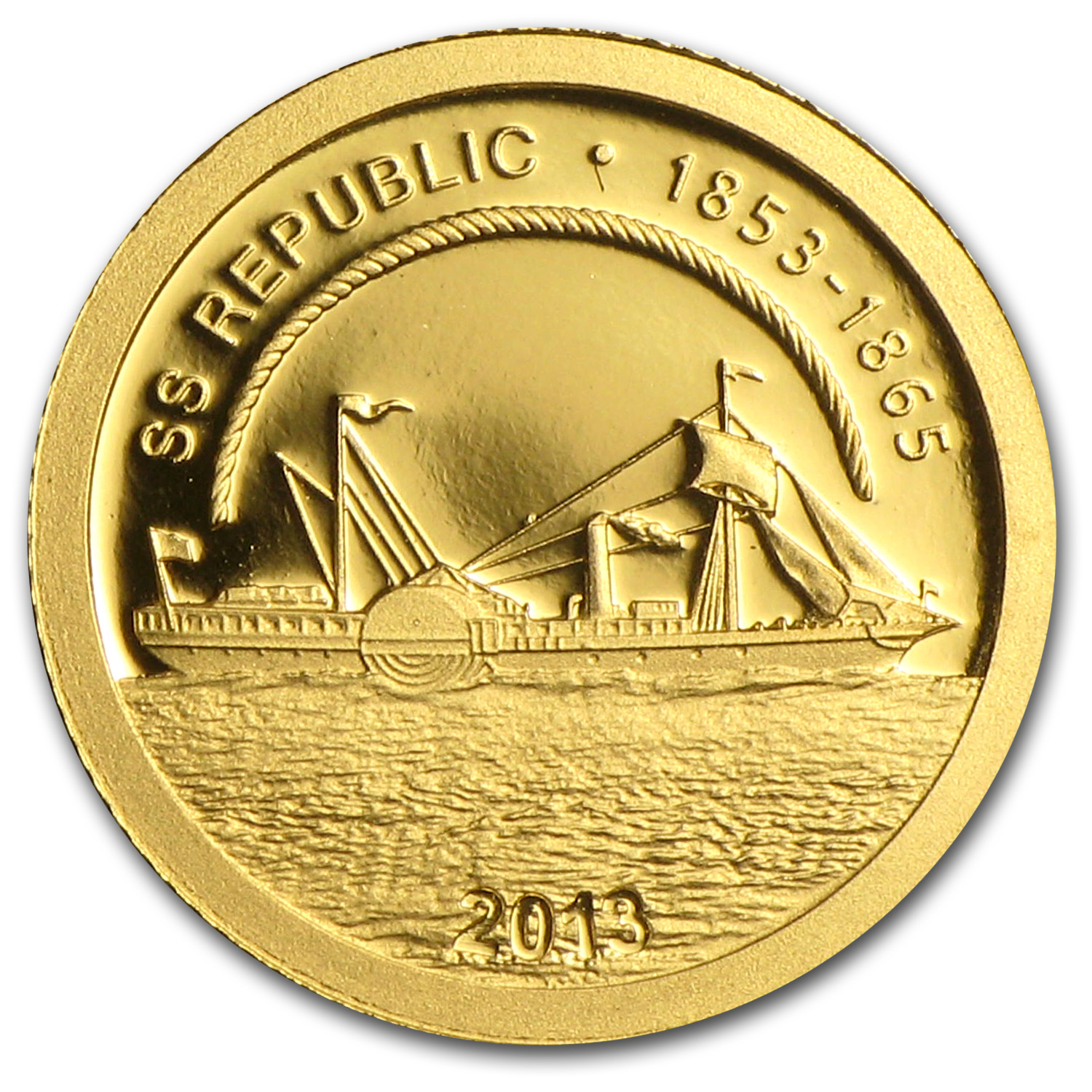 2013 Cook Islands Gold $1 SS Republic 1853-1865 Proof