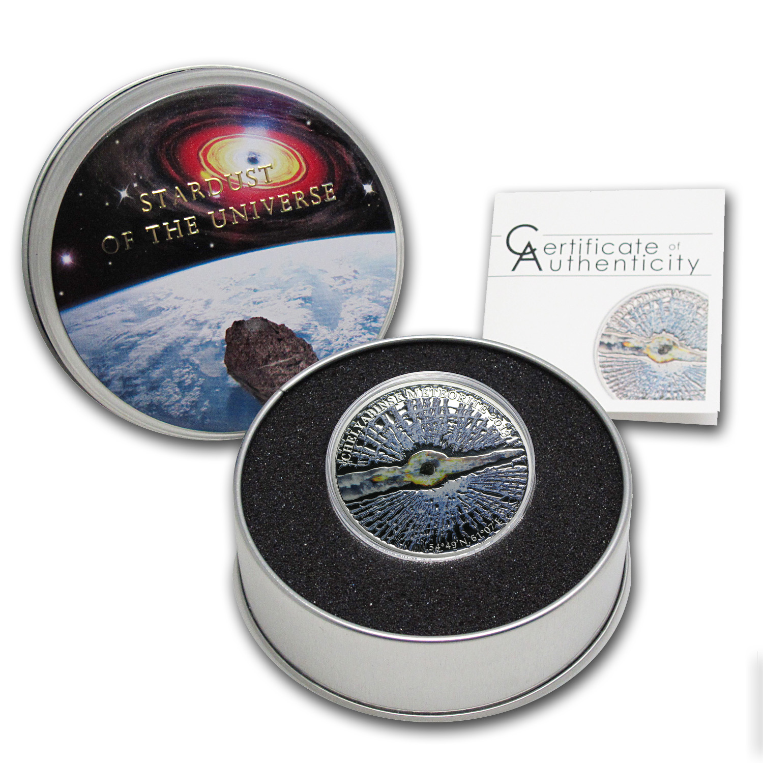 Cook Islands 2013 Proof Silver $5 Chelyabinsk Meteorite