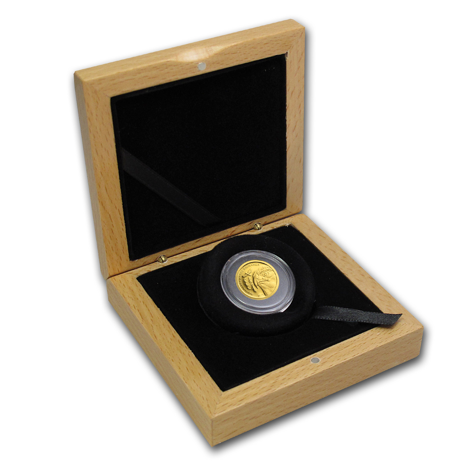 Mongolia 2013 Wildlife - Golden Eagle (1/2 gram of Pure Gold)