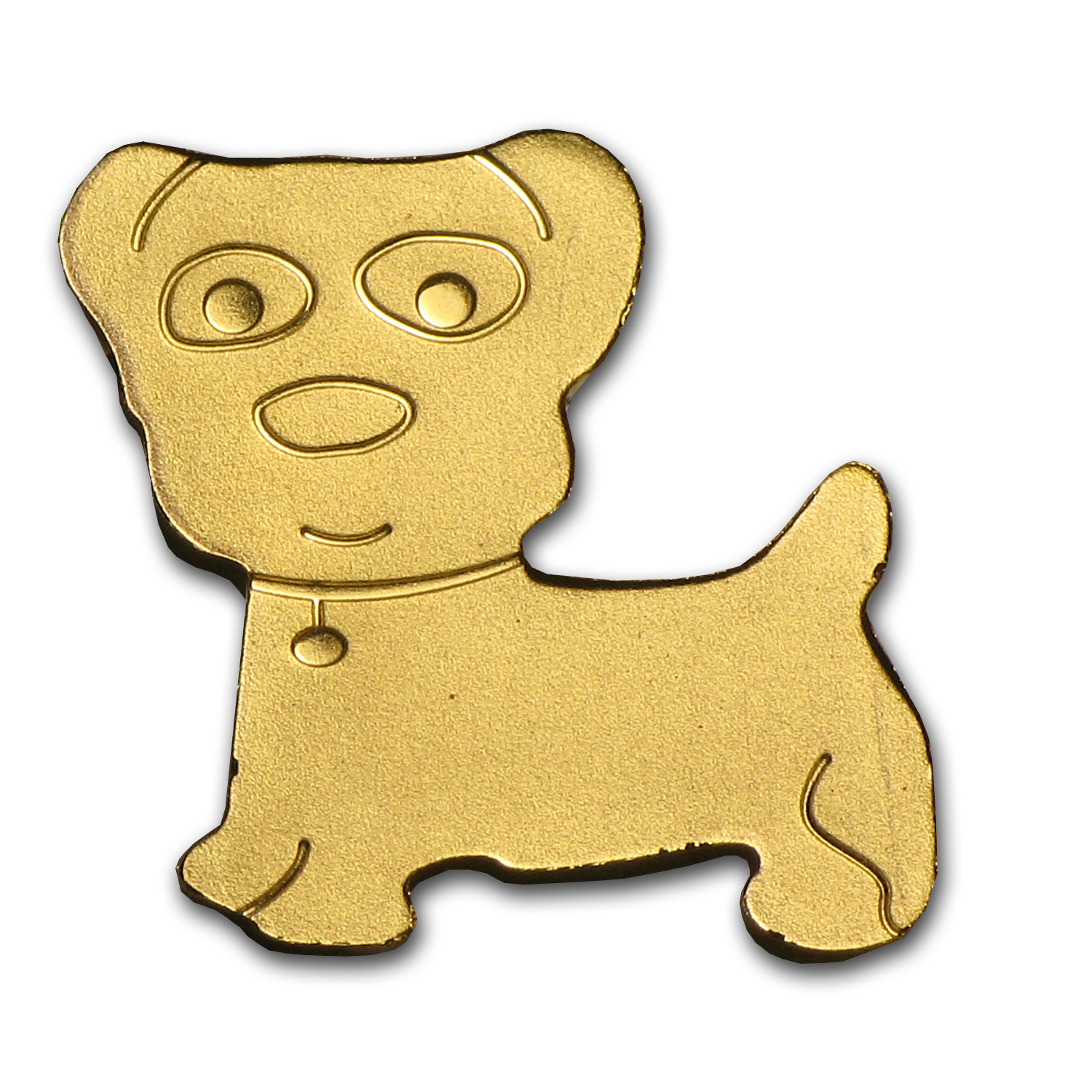 Palau 1/2 gram Gold $1 Golden Dog