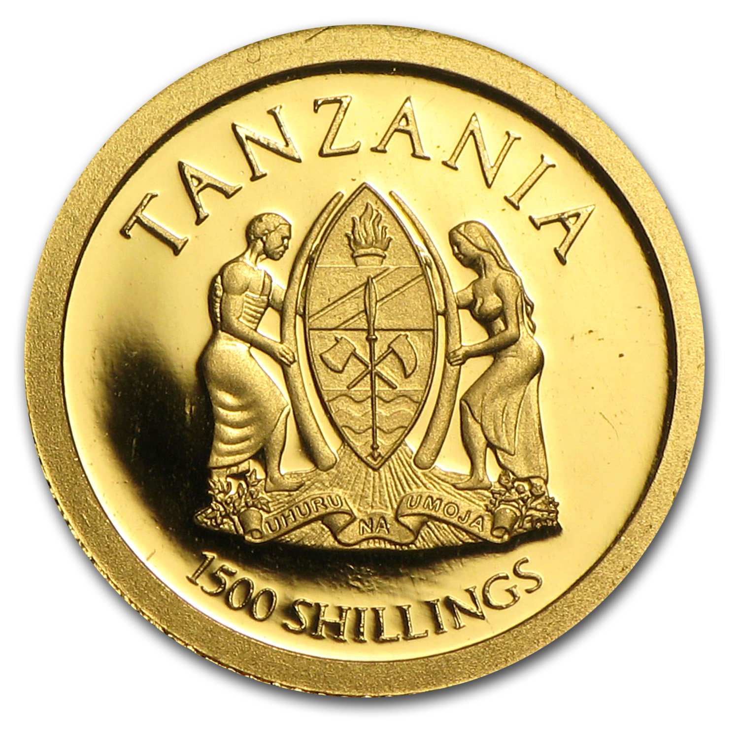 Tanzania 2013 Gold Serengeti Wildlife - Cheetah (1/2 gram)