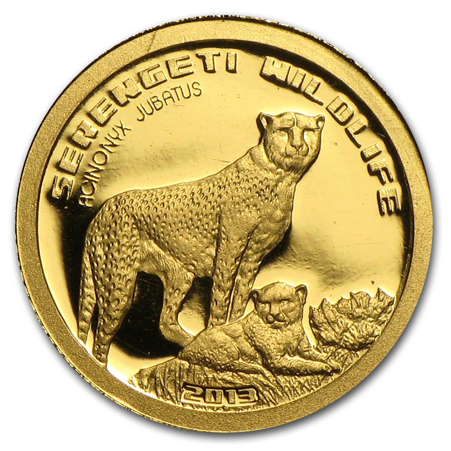 2013 Tanzania 1/2 gram Gold Serengeti Wildlife Cheetah