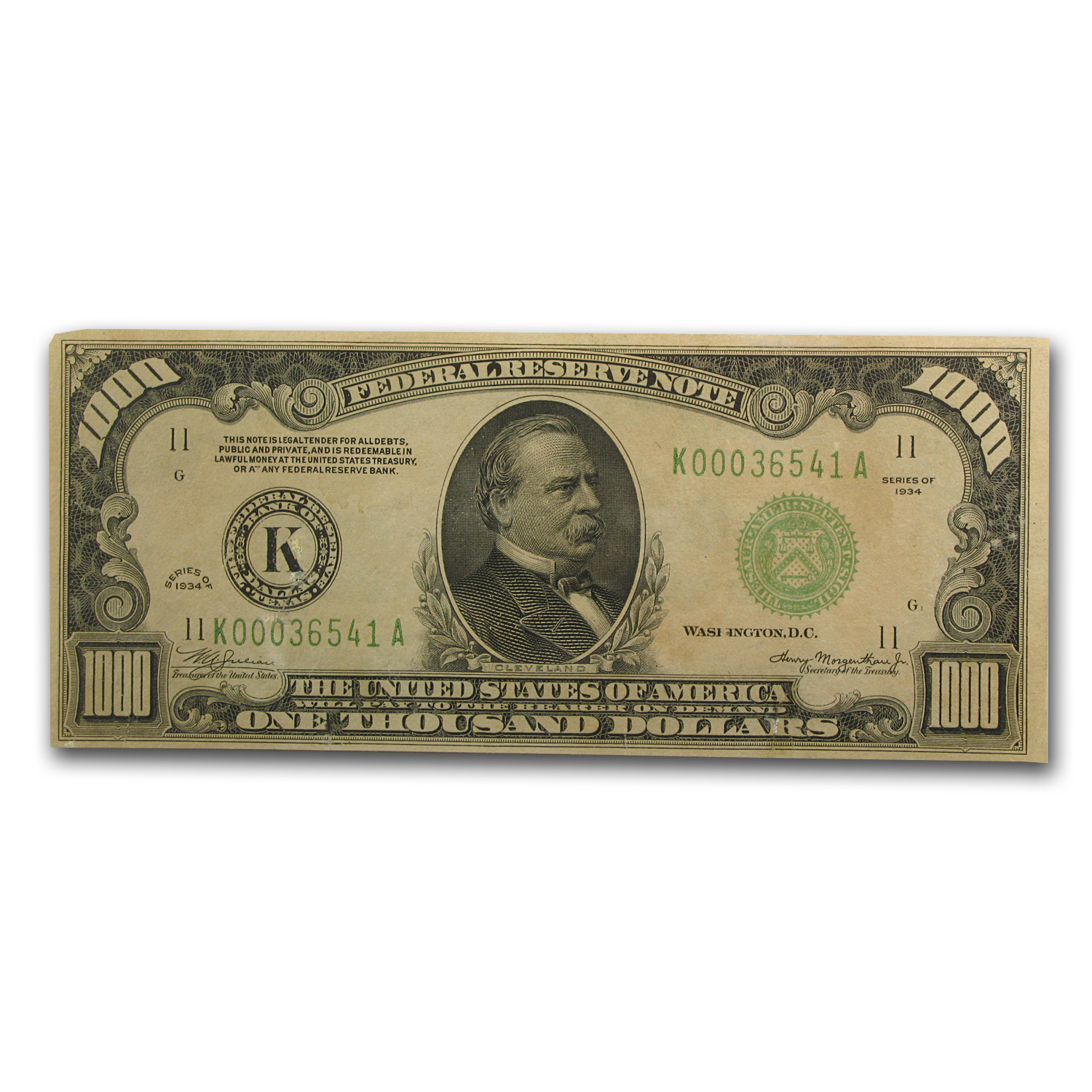 1934 (K-Dallas) $1,000 FRN (AU)