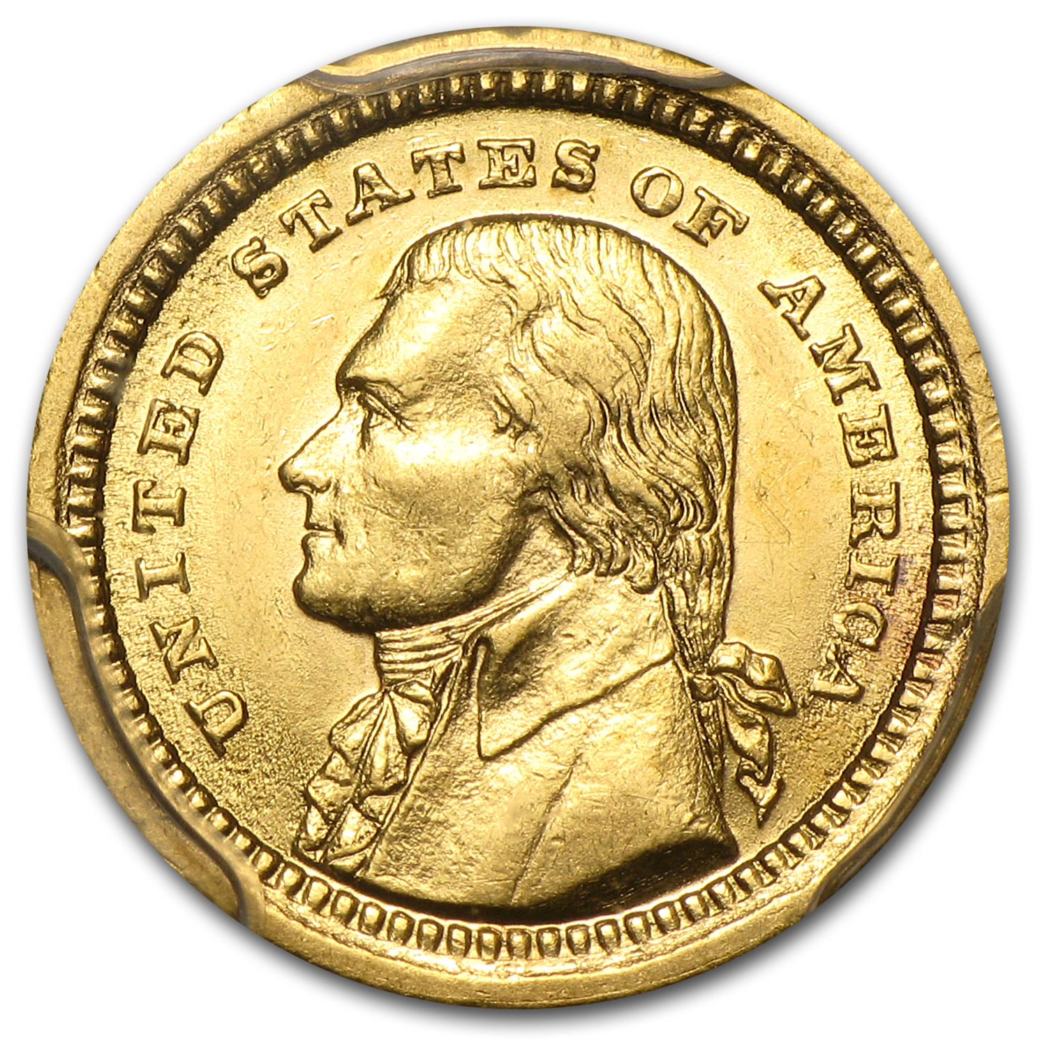 1903 Gold $1.00 Louisiana Purchase Jefferson AU-58 PCGS
