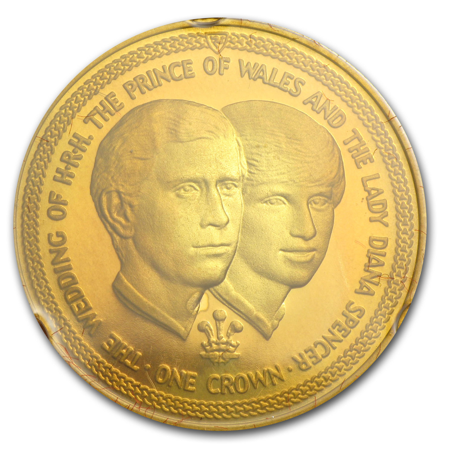 Isle of Man 1981 Proof Gold Crown Set (Charles & Diana)