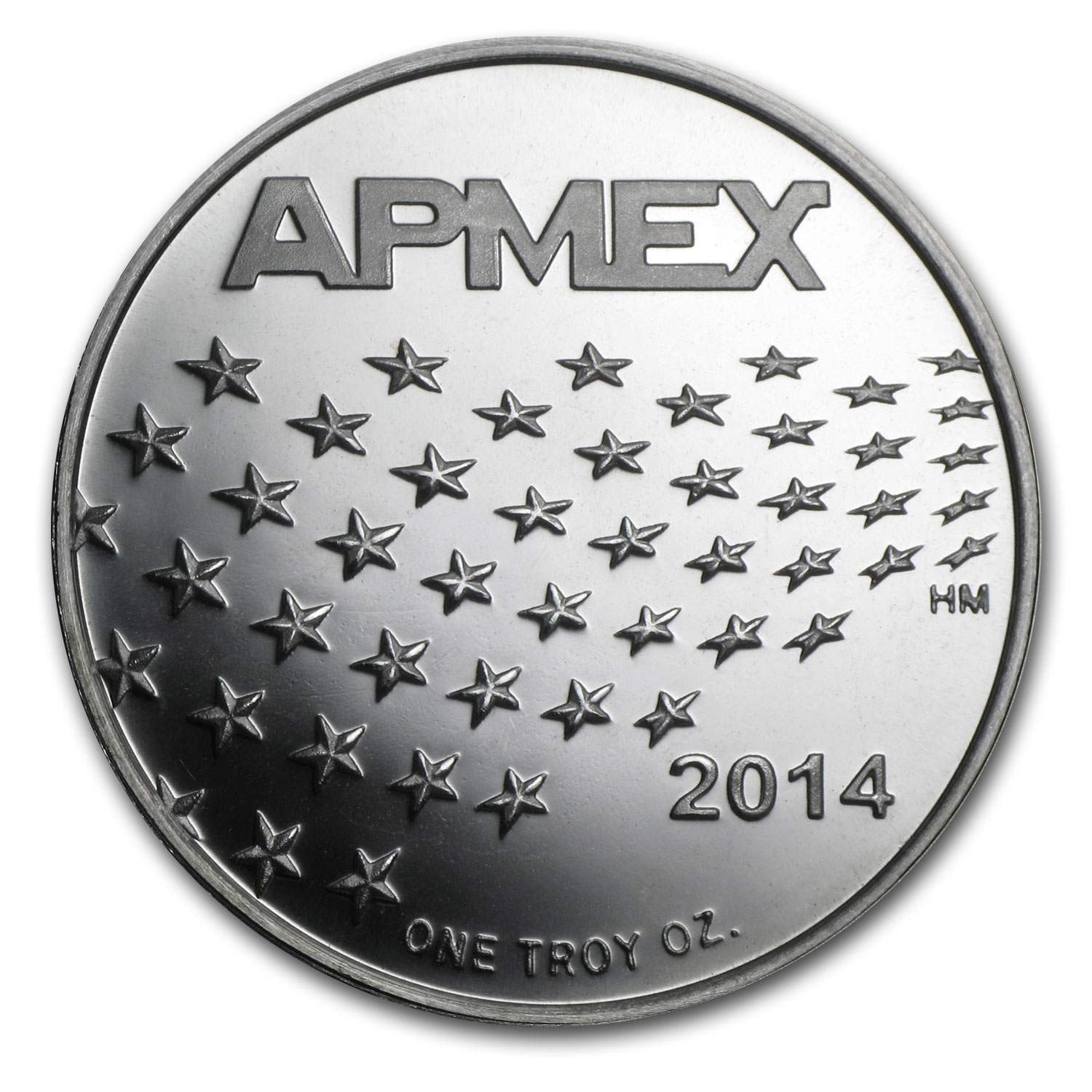 1 oz Silver Rounds - APMEX (2014 Stars and Stripes)