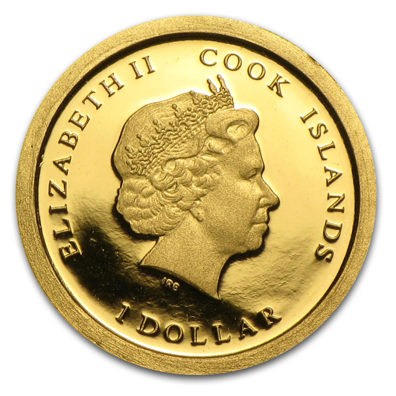 2013 Cook Islands 1/2 gram Gold $1 MS Victory