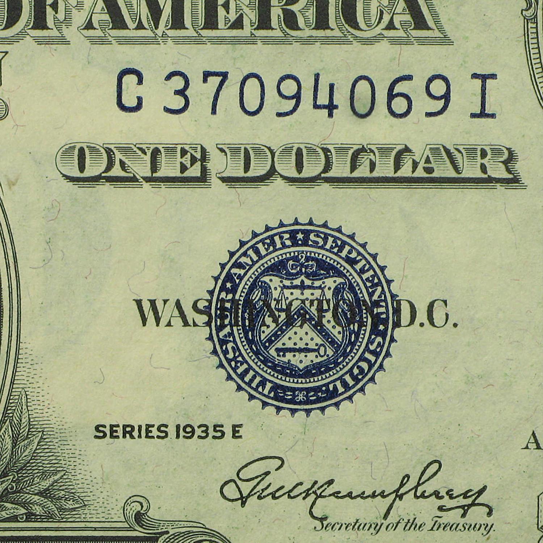 1935s 1 00 Silver Certificates Cu 1935 1 Silver