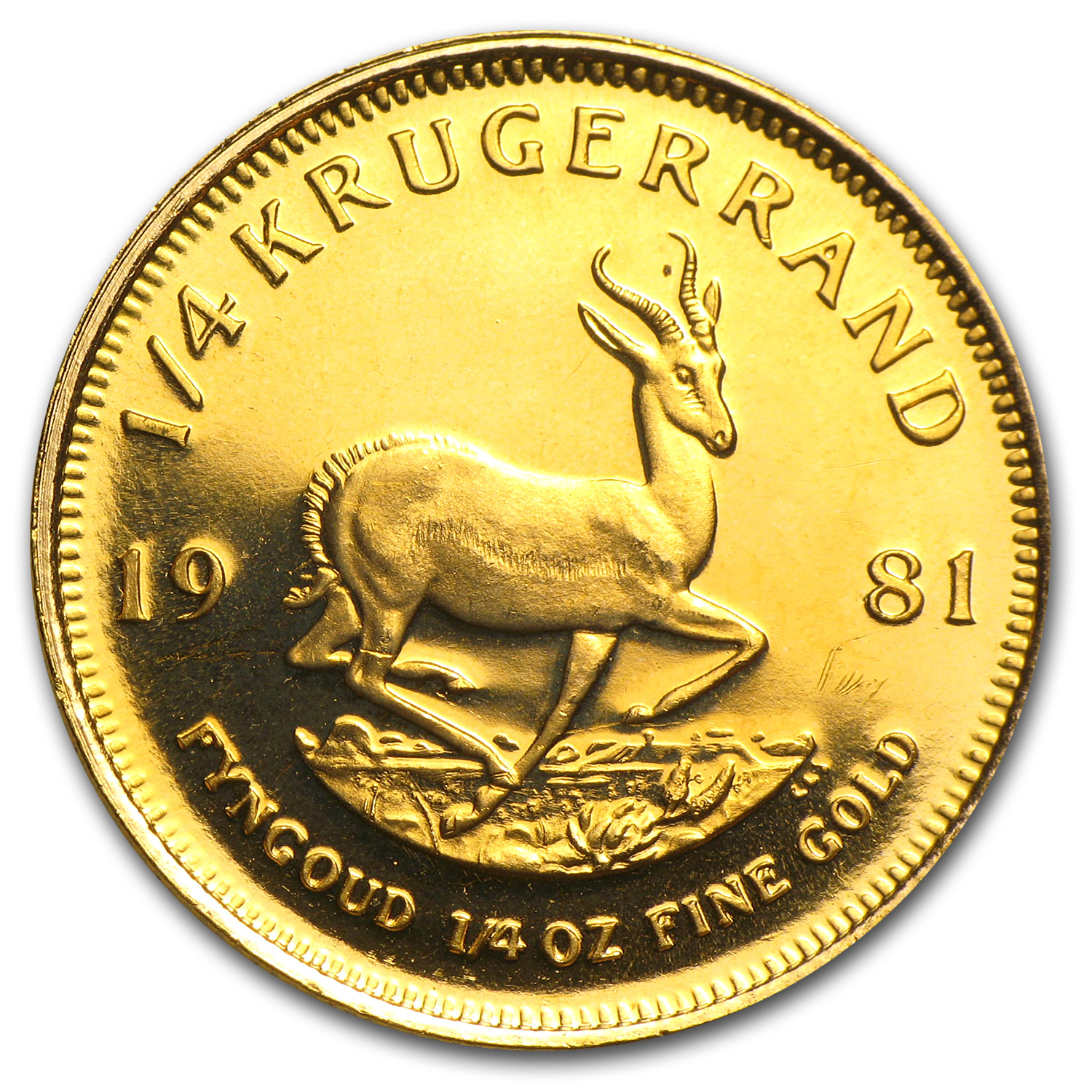 1981 South Africa 1/4 oz Gold Krugerrand Proof