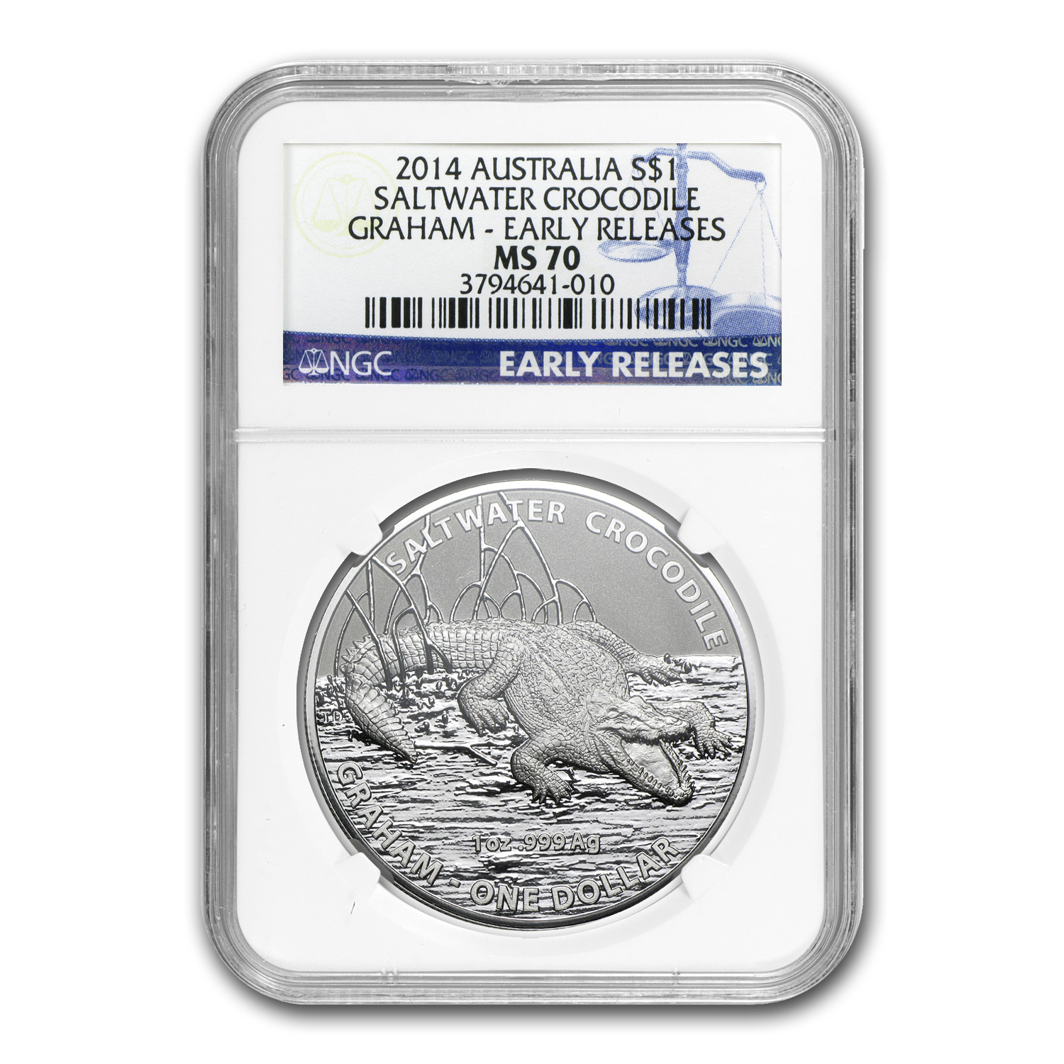 2014 Australia Crocodile Graham MS-70 NGC (ER)