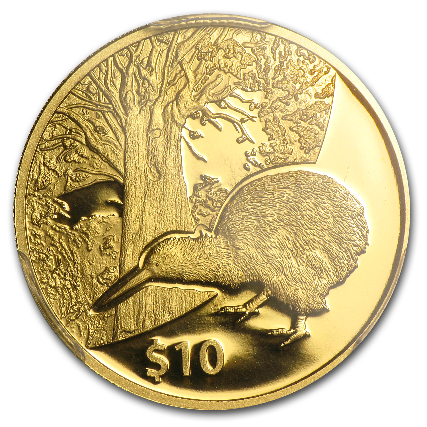 2013 New Zealand 1/4 oz Proof Gold $10 Tane Mahuta PR-69 PCGS