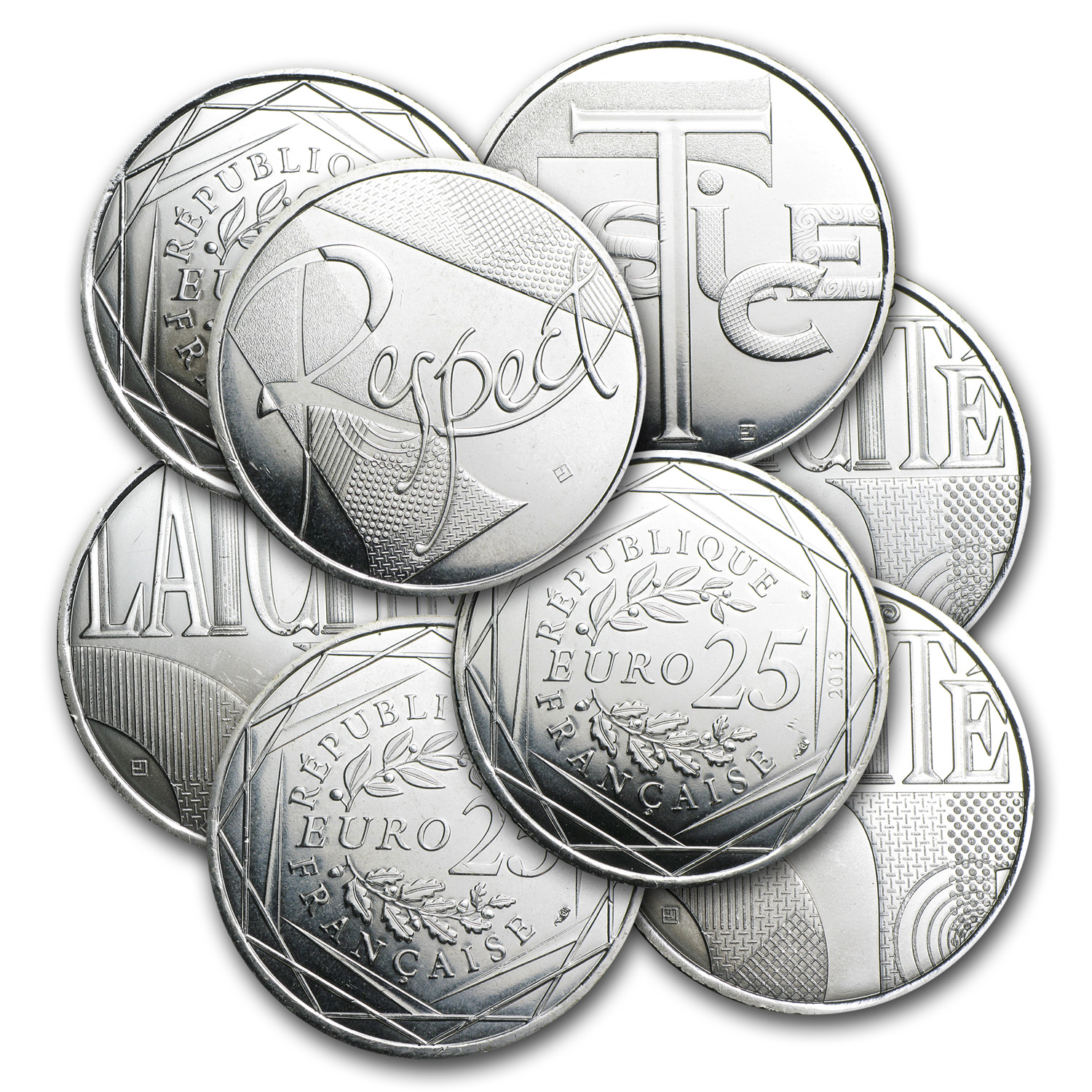 2013 Silver €25 value (Face Value) coin