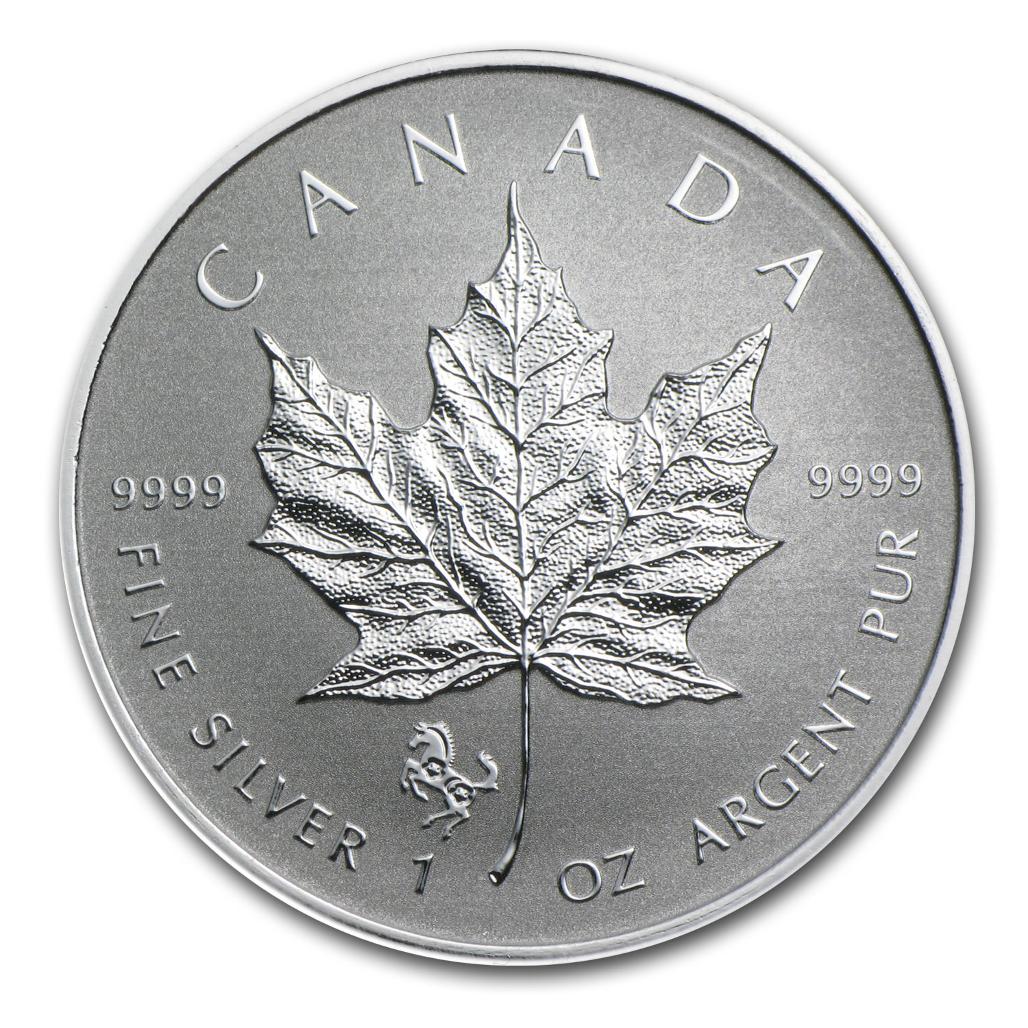 2014 Canada 1 oz Silver Maple Leaf Lunar Horse Privy