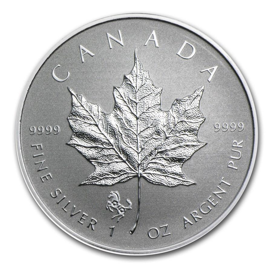 2014 Canada 1 Oz Silver Maple Leaf Horse Privy Rcm
