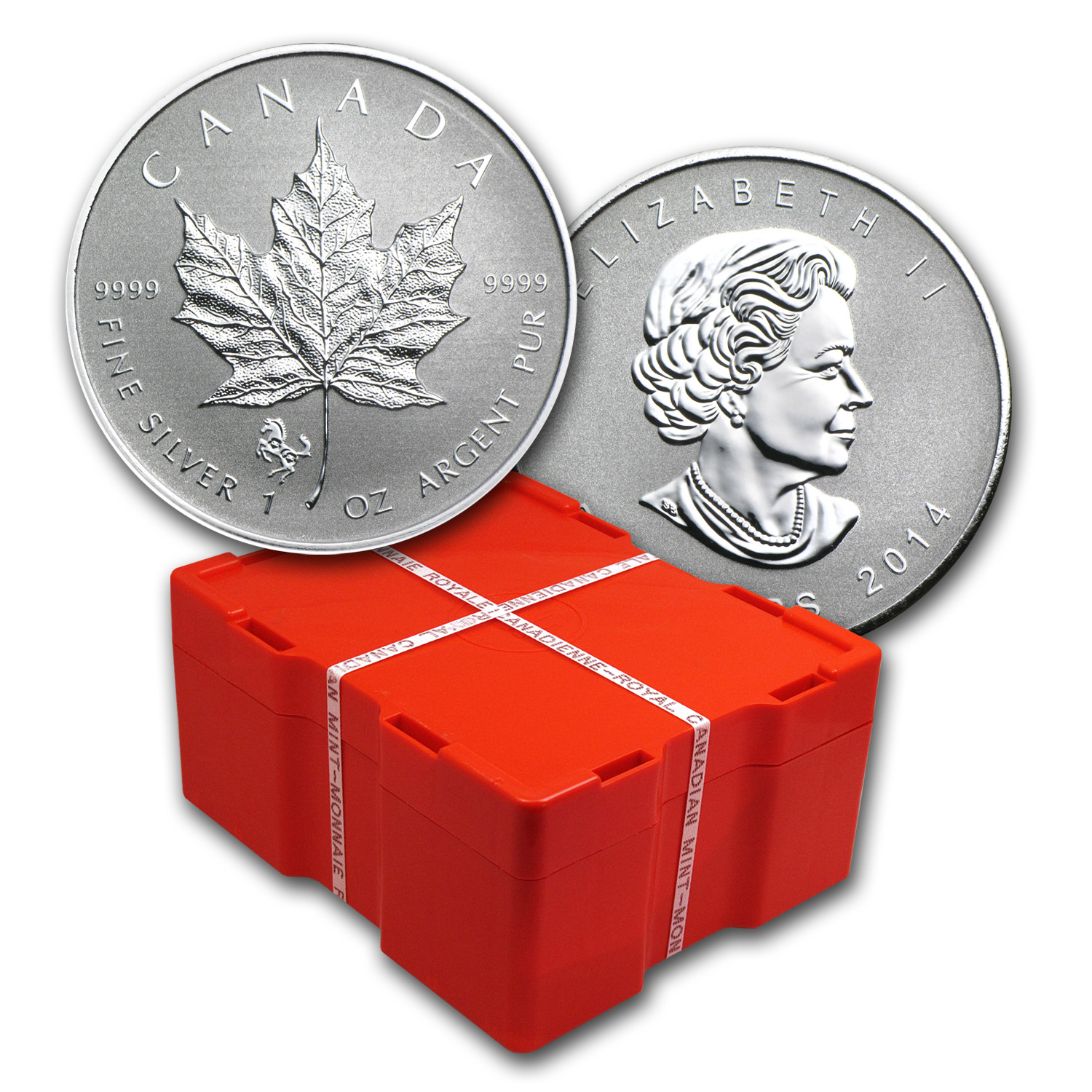 2014 500-Coin 1 oz Silver Maple Leaf Horse Privy Box (Sealed)