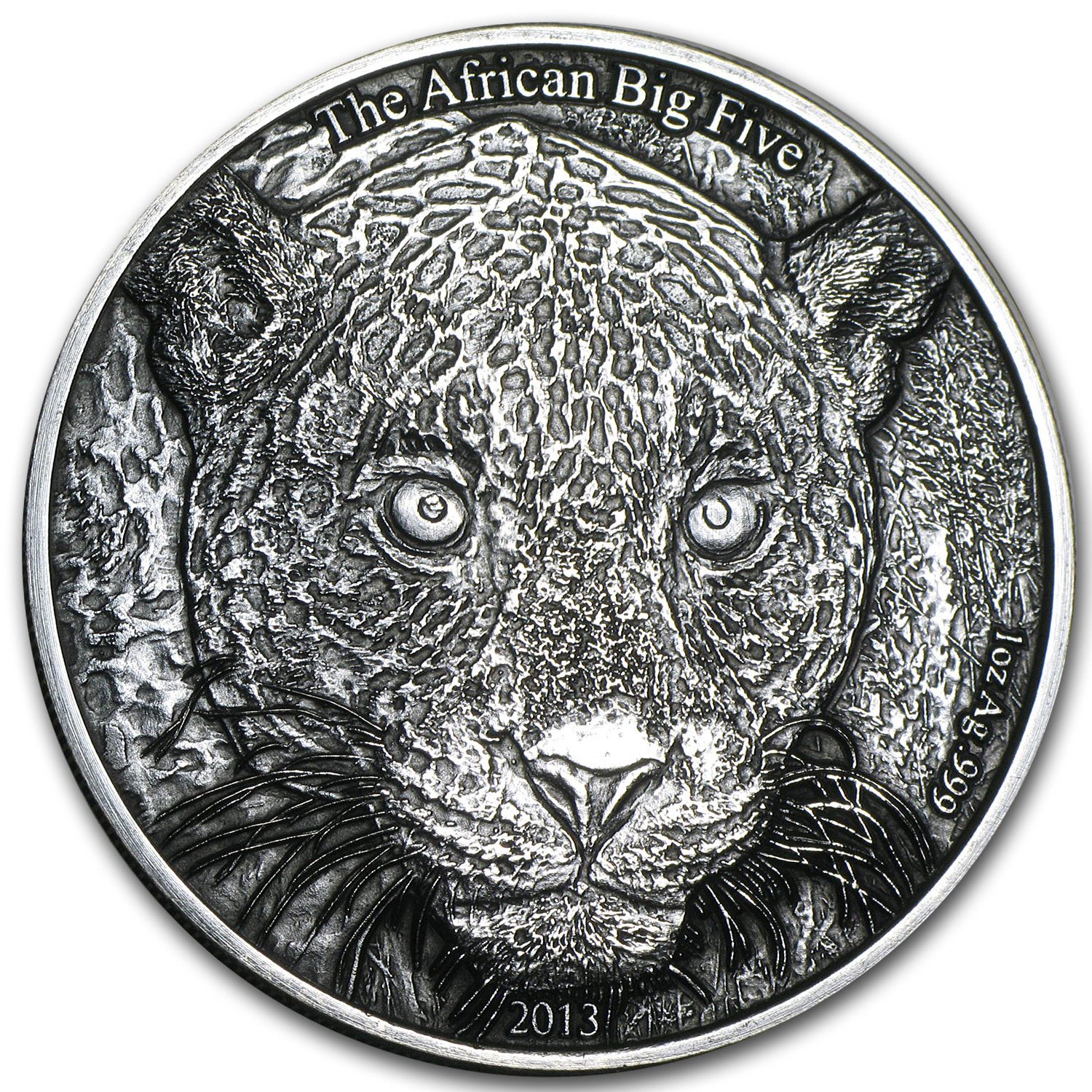 2013 Cameroon 1 oz Silver African Big Five Leopard