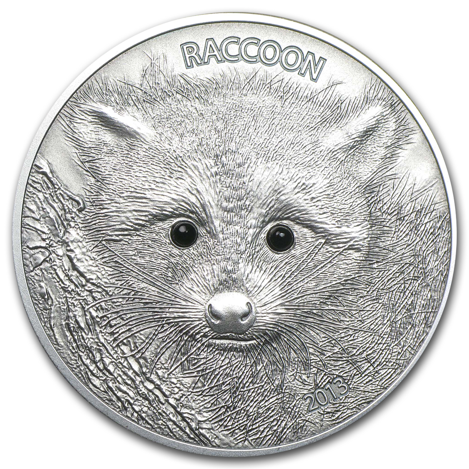 2013 Vanuatu 1 oz Silver Forest Animals The Raccoon