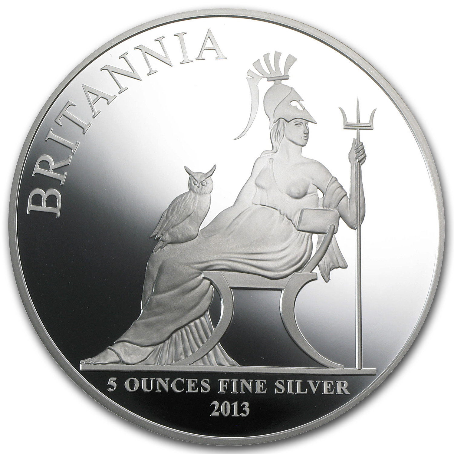 2013 5 oz Silver Britannia Proof (w/Box & COA)