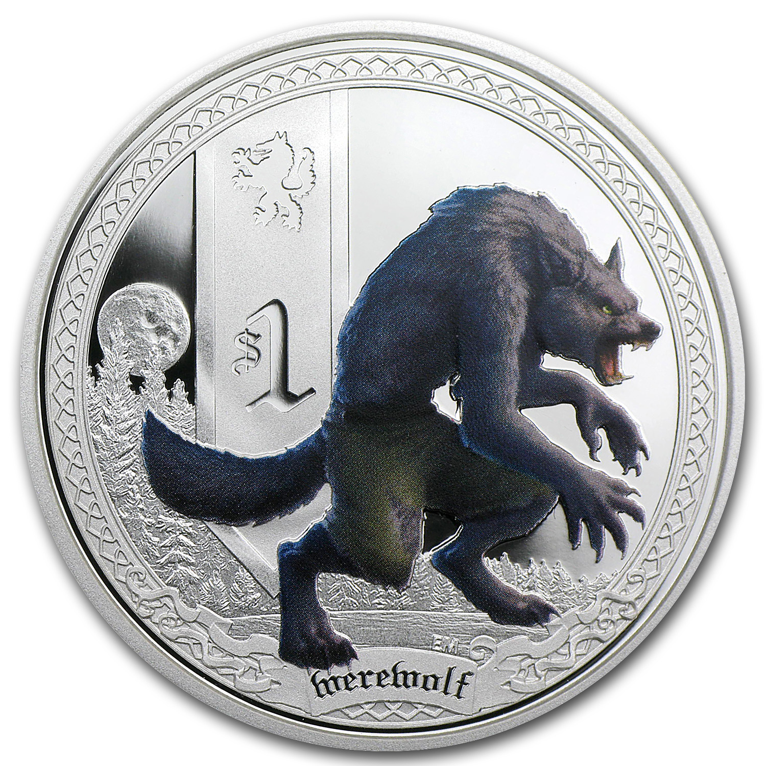 2013 Tuvalu 1 oz Silver Mythical Creatures Werewolf Proof