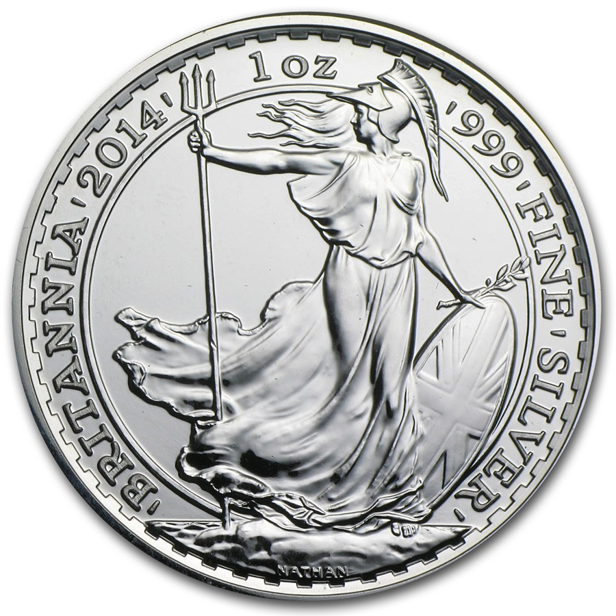 2014 Great Britain 1 Oz Silver Britannia Bu Silver