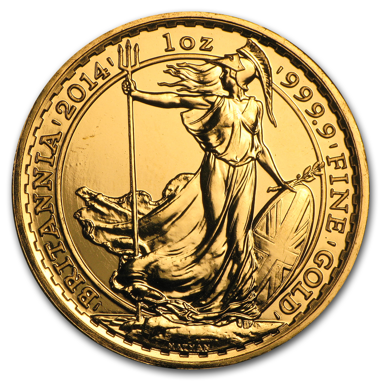 2014 Great Britain 1 oz Gold Britannia BU
