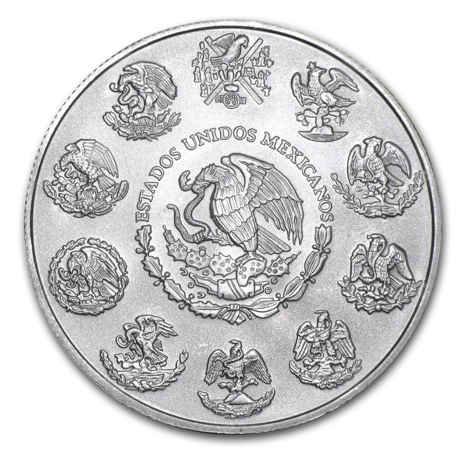 2014 1 oz Silver Mexican Libertad (Brilliant Uncirculated) (8/8)