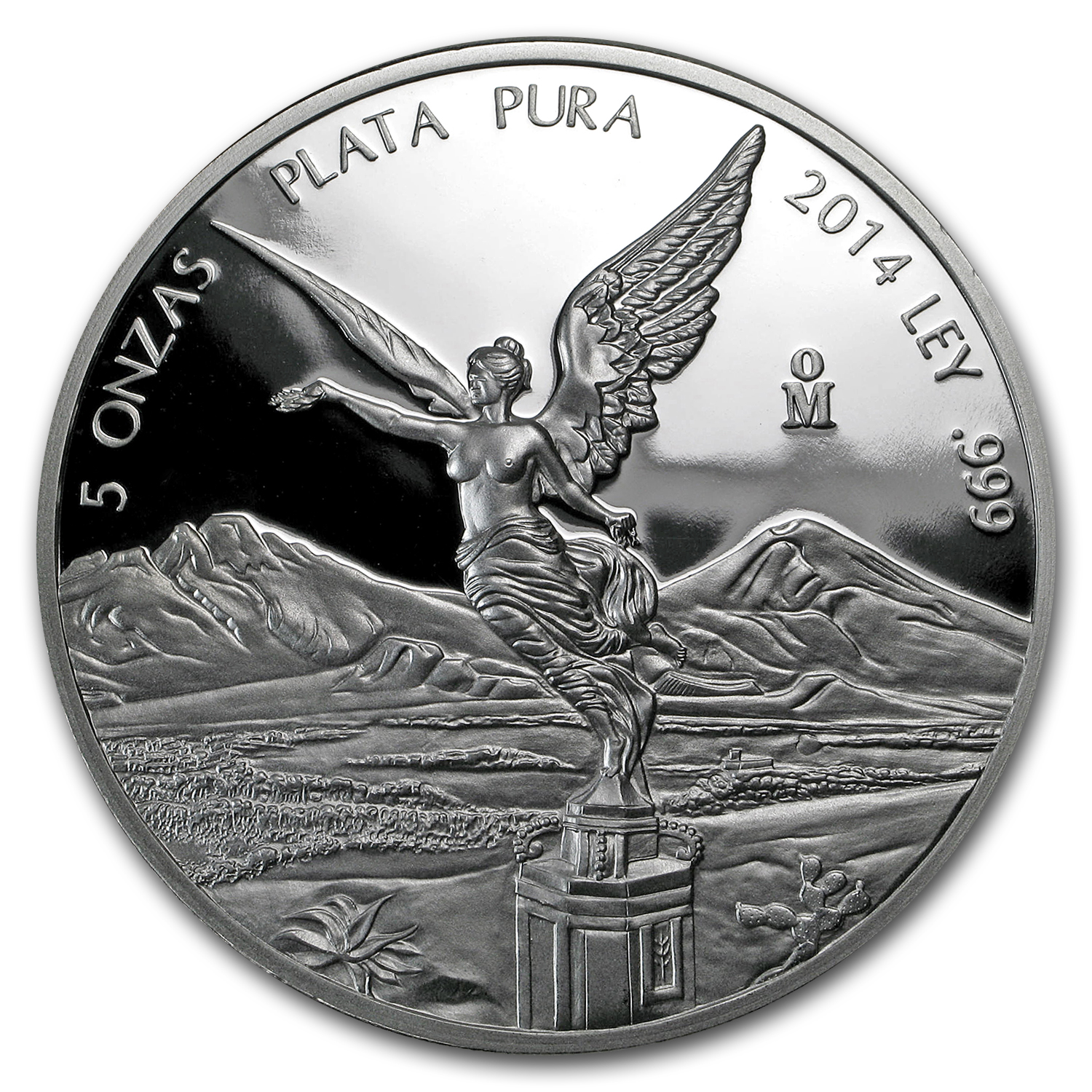 2014 Mexican 5 oz Silver Libertad Proof (In Capsule)