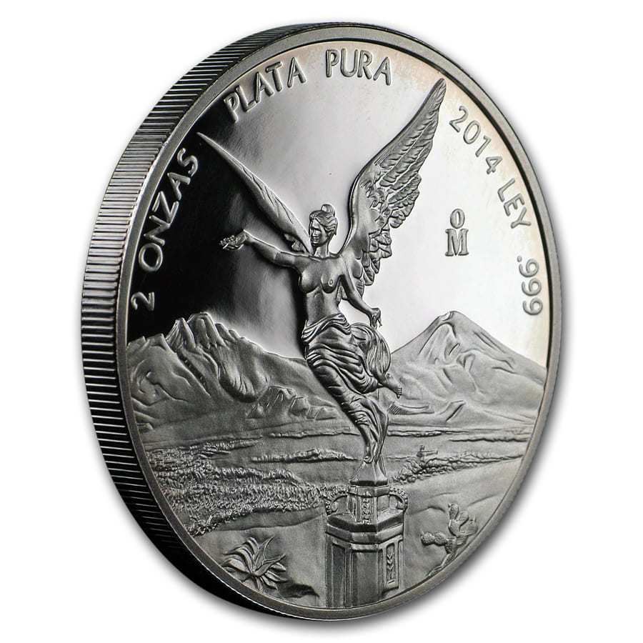 2014 Mexico 2 oz Silver Libertad Proof (In Capsule)