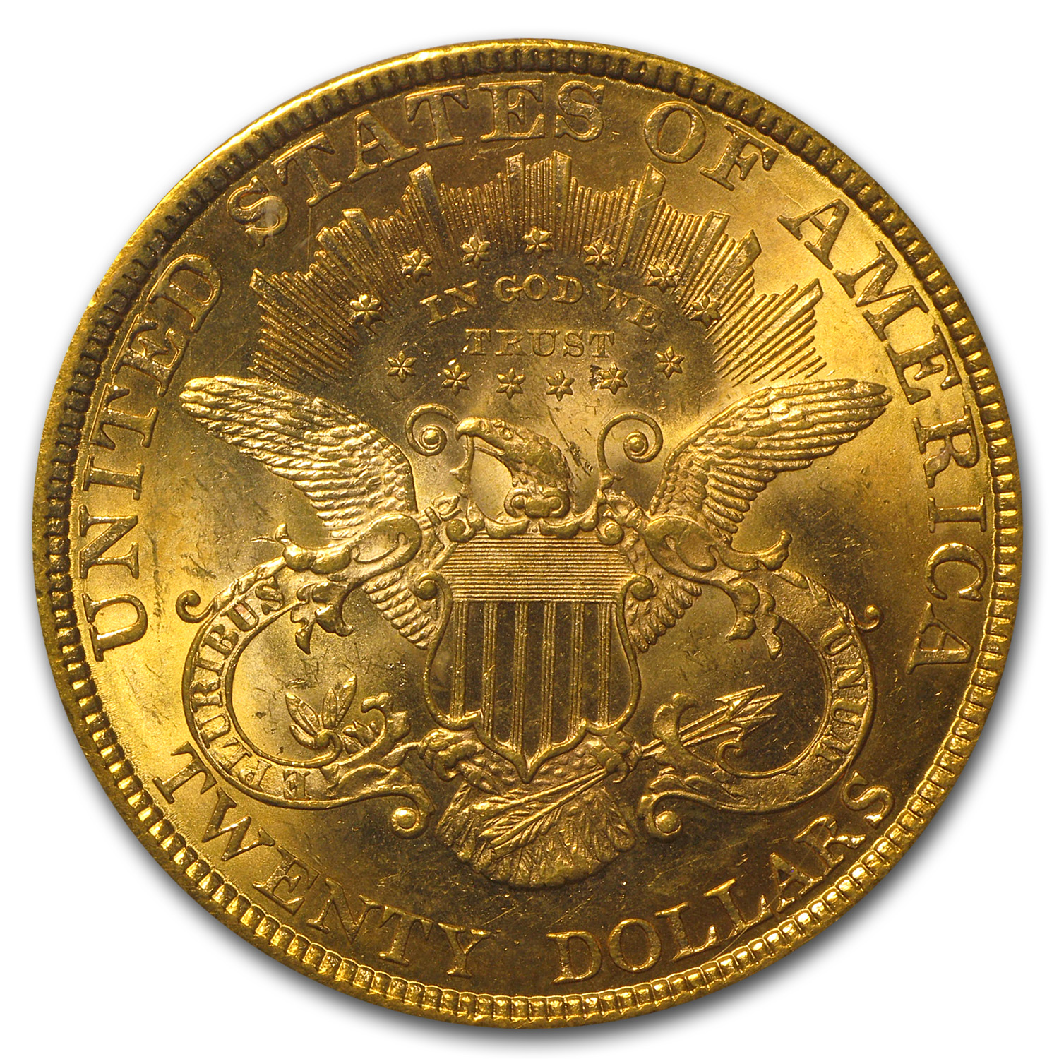 1878 $20 Gold Liberty Double Eagle - MS-62 PCGS