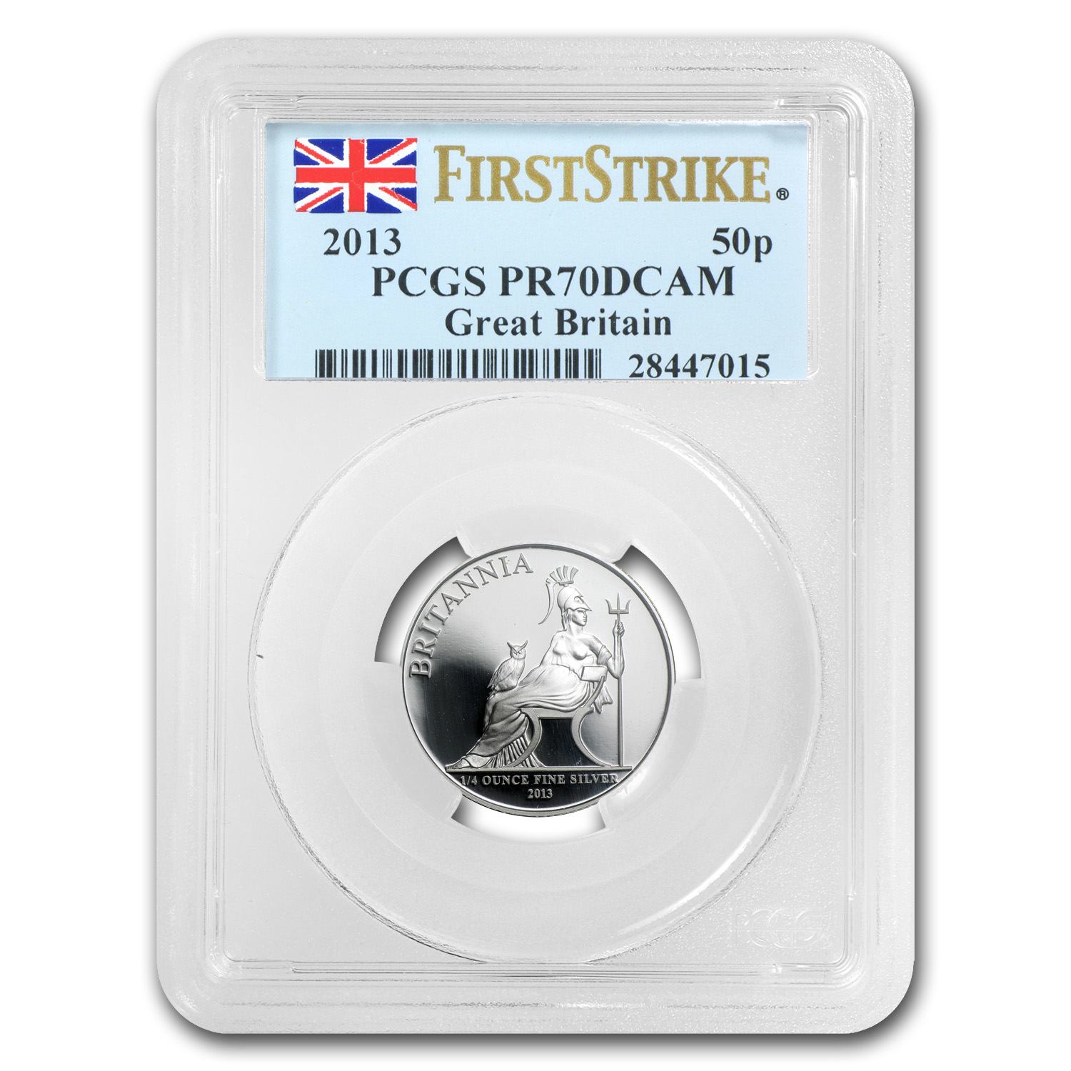 2013 Great Britain 1/4 oz Silver Britannia PR-70 PCGS (FS)