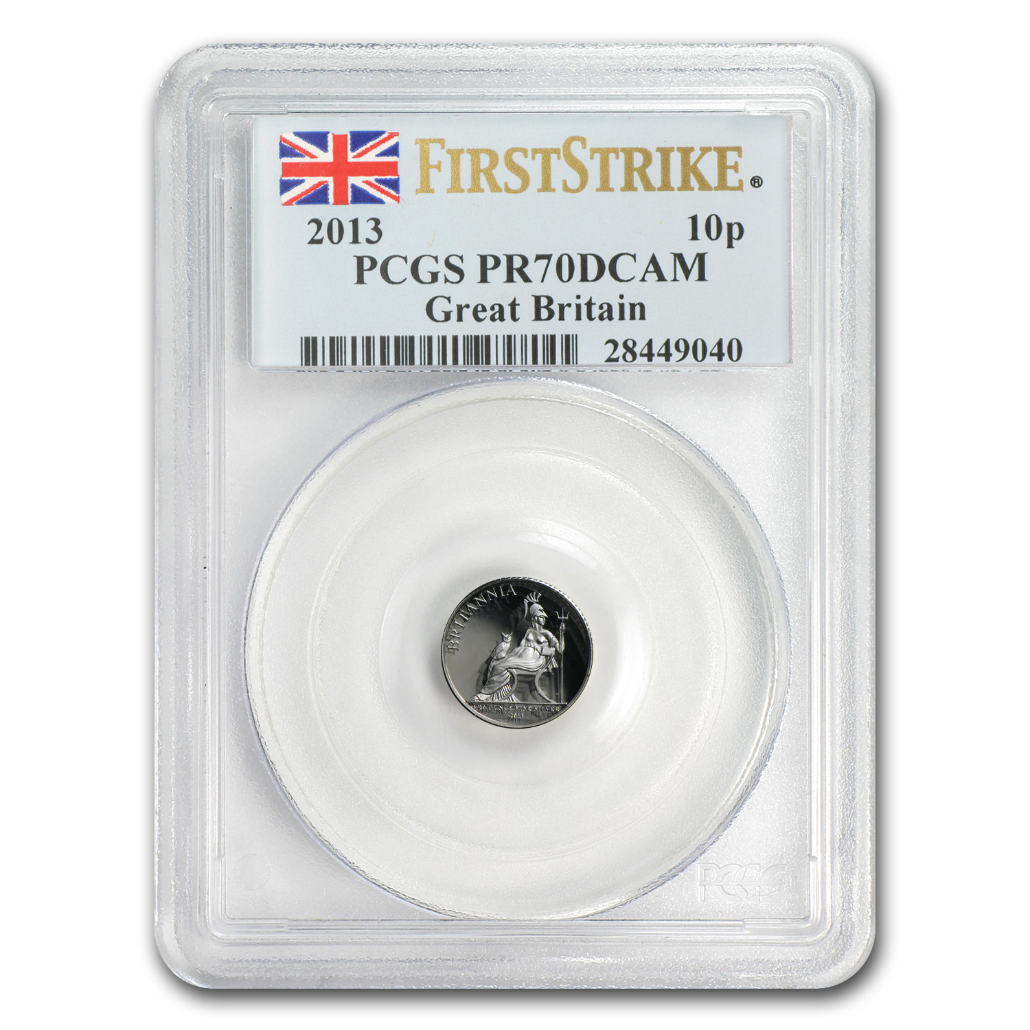 2013 Great Britain 1/20 oz Silver Britannia PR-70 PCGS (FS)
