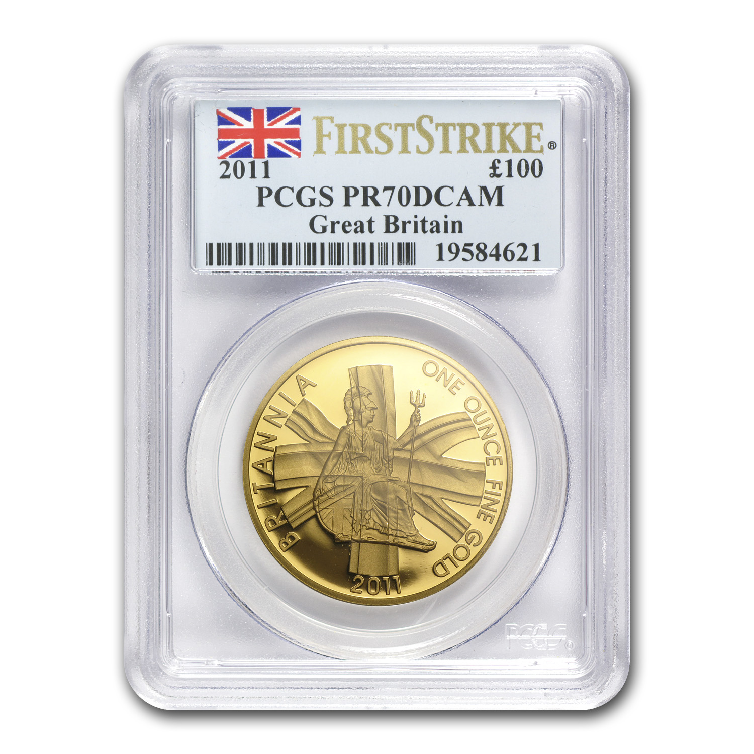 2011 1 oz Proof Gold Britannia PR-70 PCGS (First Strike)