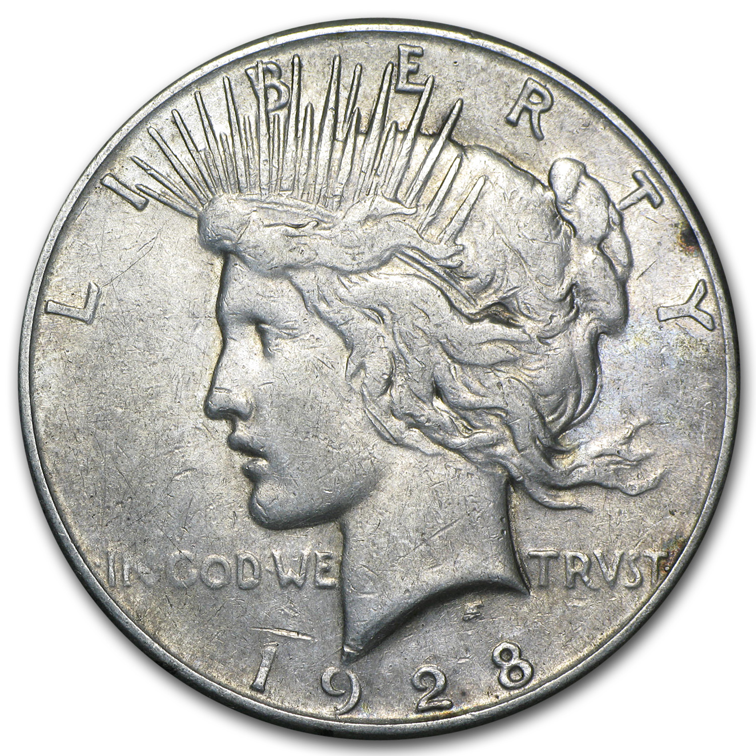 1927-1928 Peace Silver Dollars VG-XF