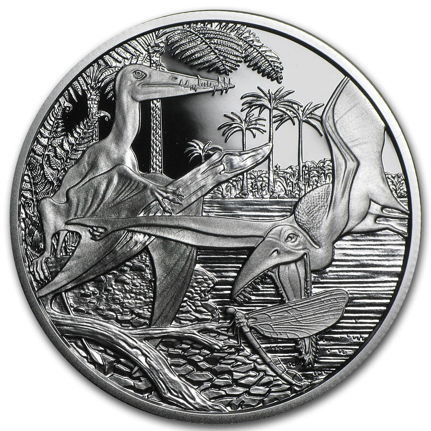 2013 Jurassic Life In The Air 20 Euro Silver Proof