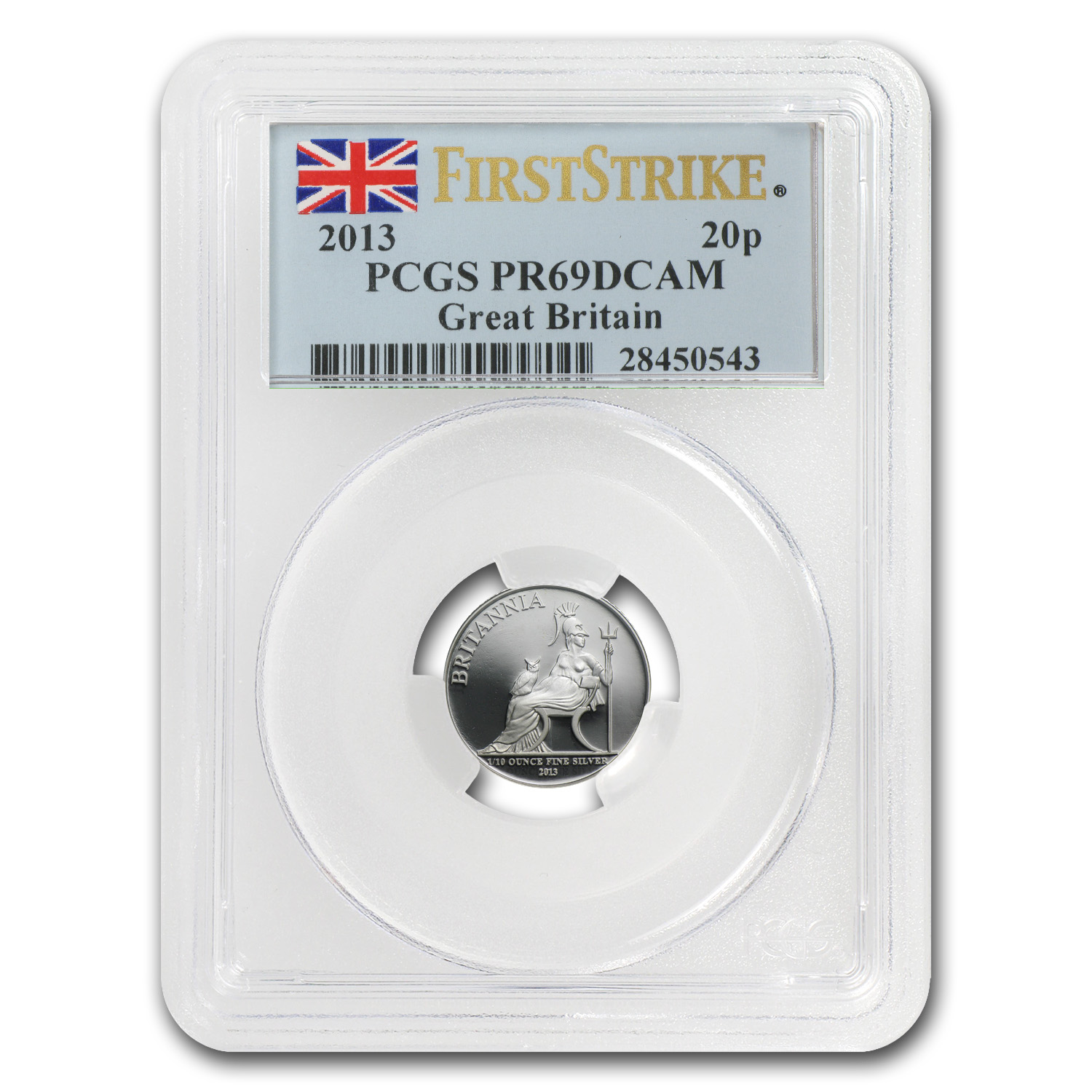 2013 GB 5-Coin Silver Britannia Proof Set PR-69 GB PCGS (FS)
