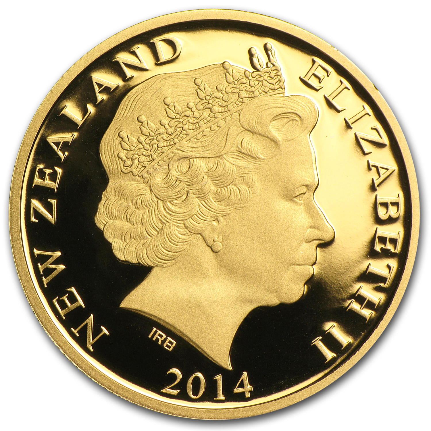 2014 New Zealand 1/4 oz Proof Gold $10 Treasures Kiwi
