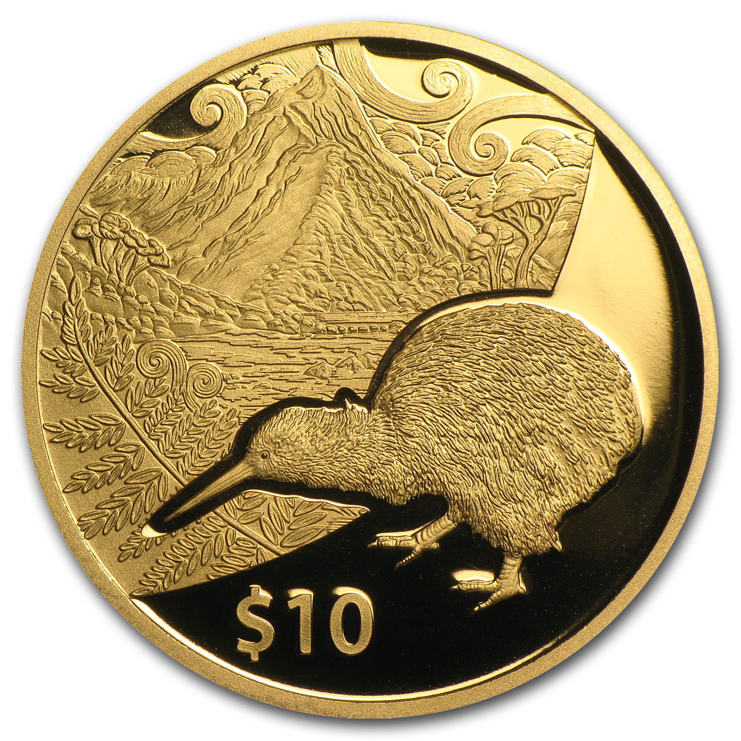 2014 1/4 oz Gold New Zealand $10 Treasures Kiwi Proof