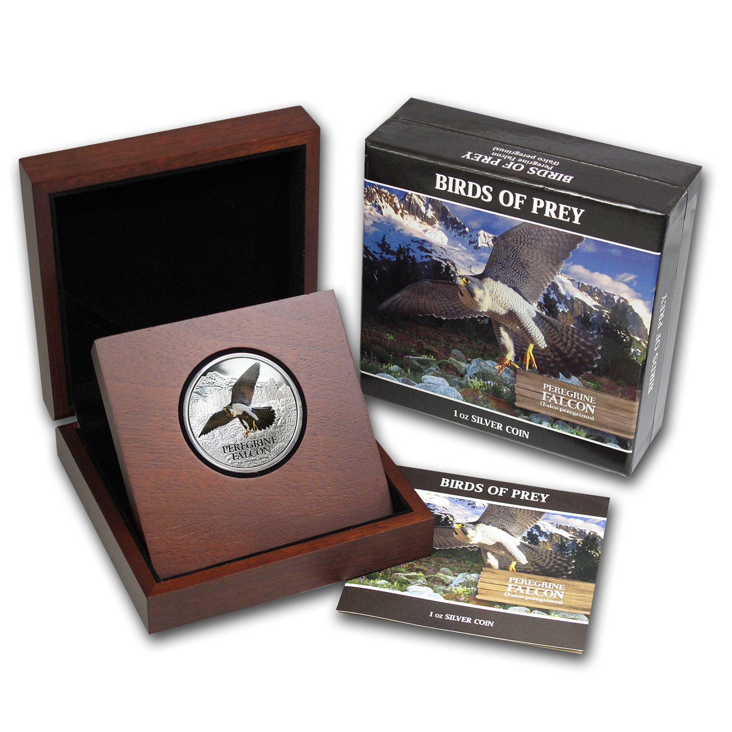 2013 1 oz Silver Niue $2 Peregrine Falcon Proof