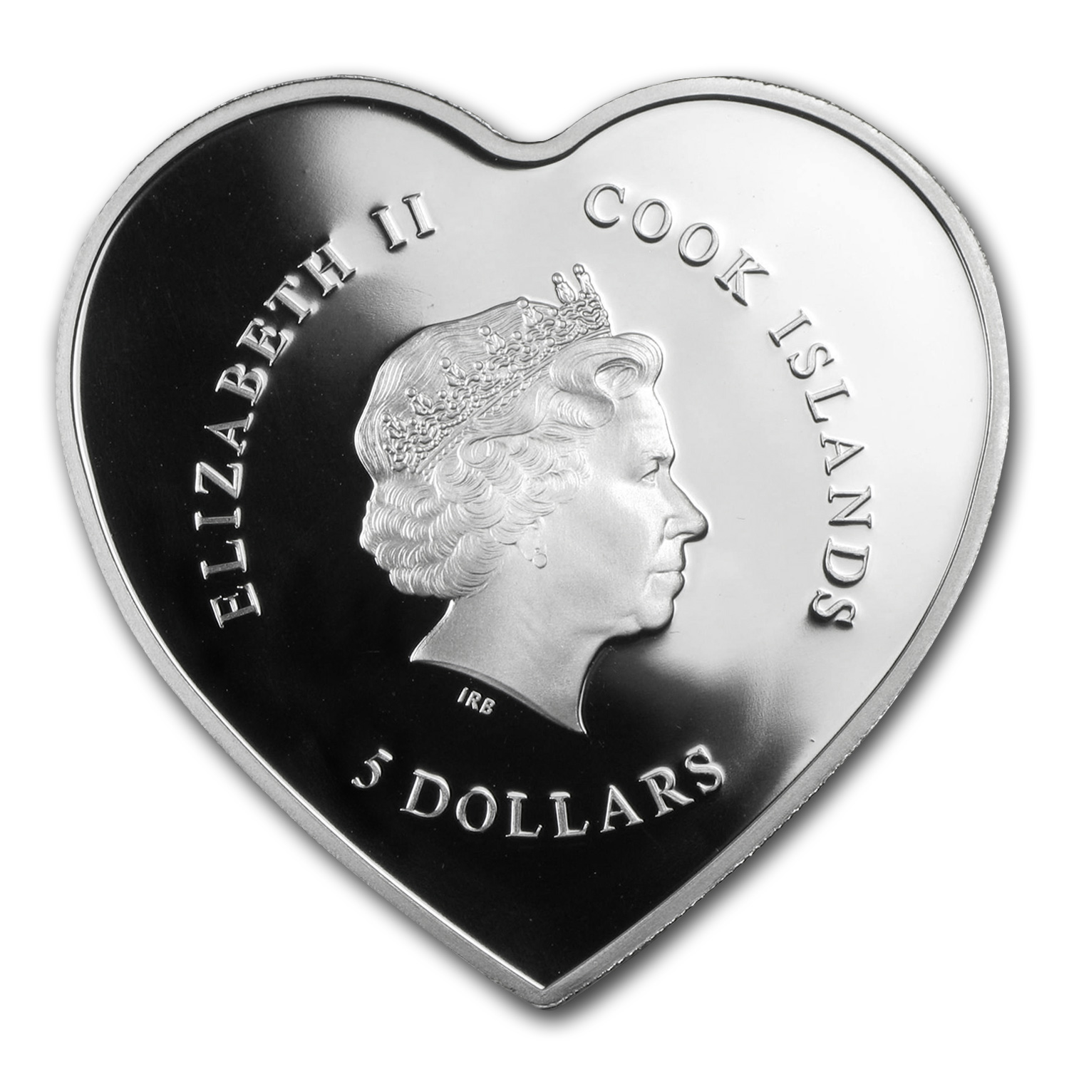 Cook Islands 2014 Silver Happy Valentine's Day-Heart Shape