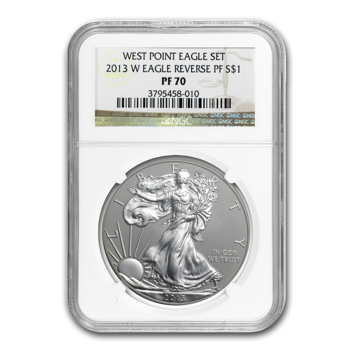 2013-W Reverse Proof Silver American Eagle PF-70 NGC