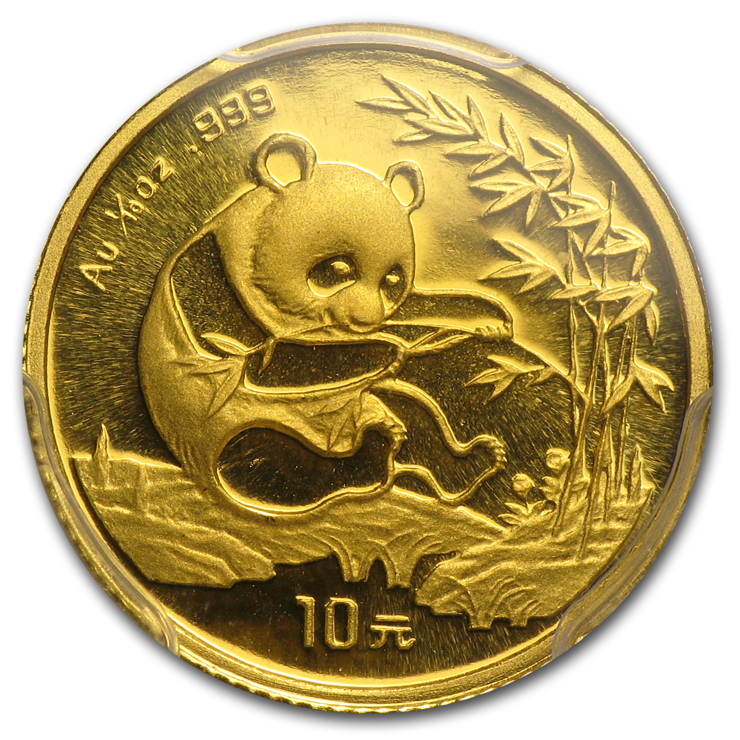 1994 (1/10 oz) Gold Chinese Pandas - (Large Date) - MS-69 PCGS