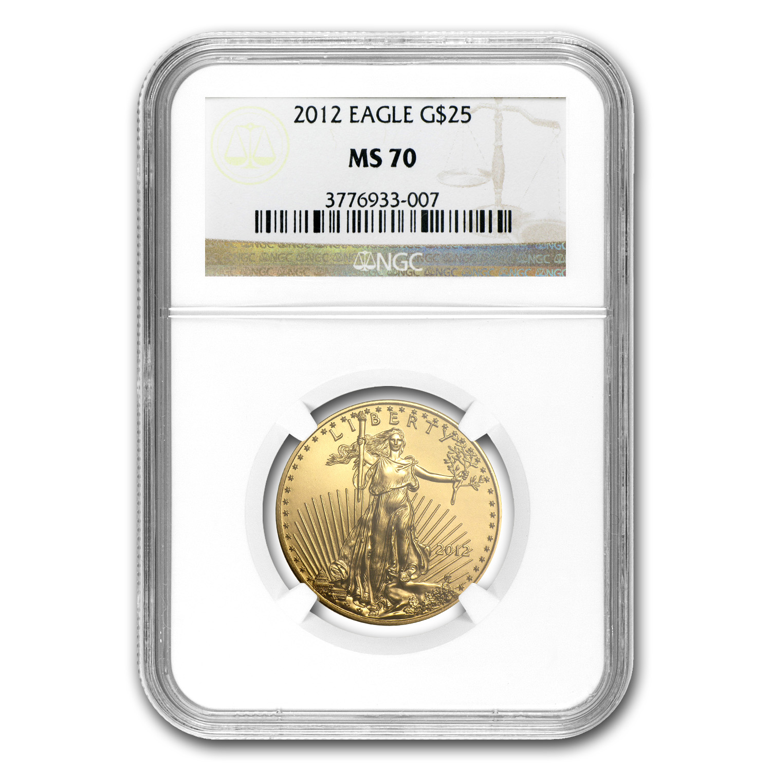 2012 1/2 oz Gold American Eagle MS-70 NGC