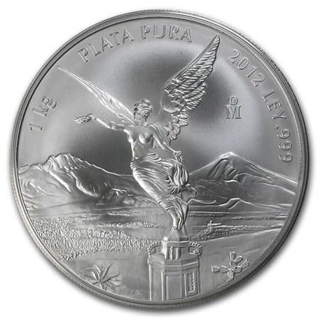 2012 Mexico 1 Kilo Silver Libertad Coin Mexican Silver