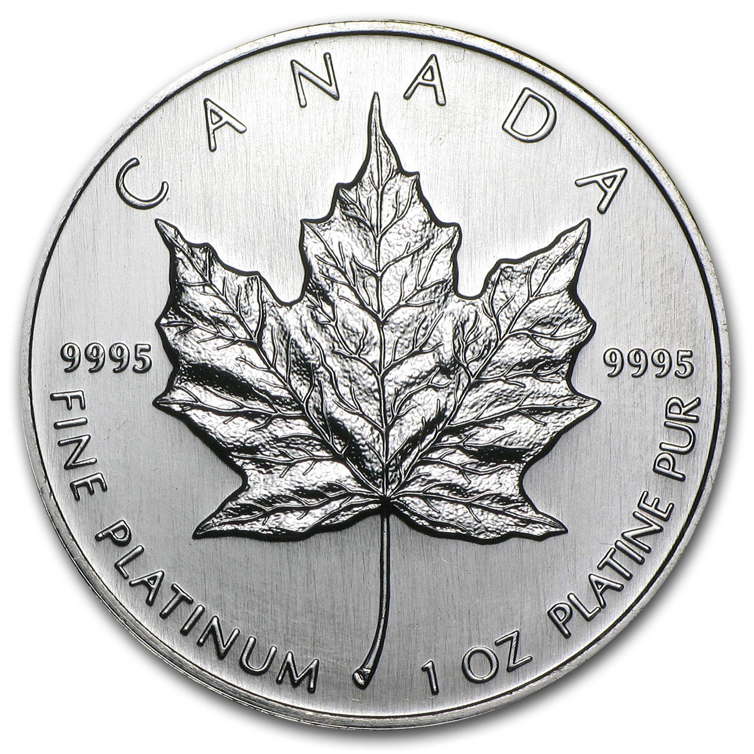 1997 Canada 1 oz Platinum Maple Leaf BU
