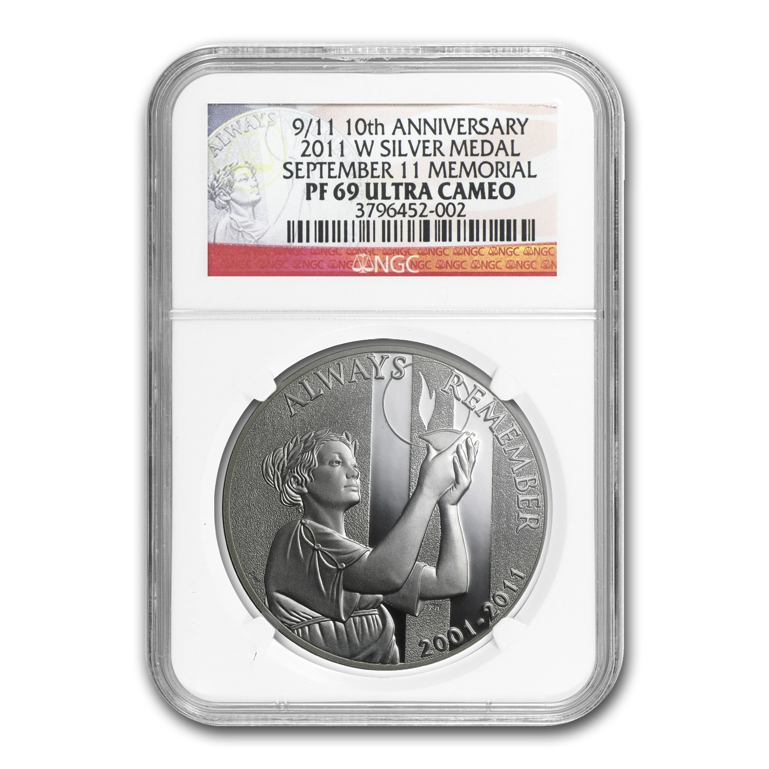 2011-W 9/11 National Medal - PF-69 UCAM NGC