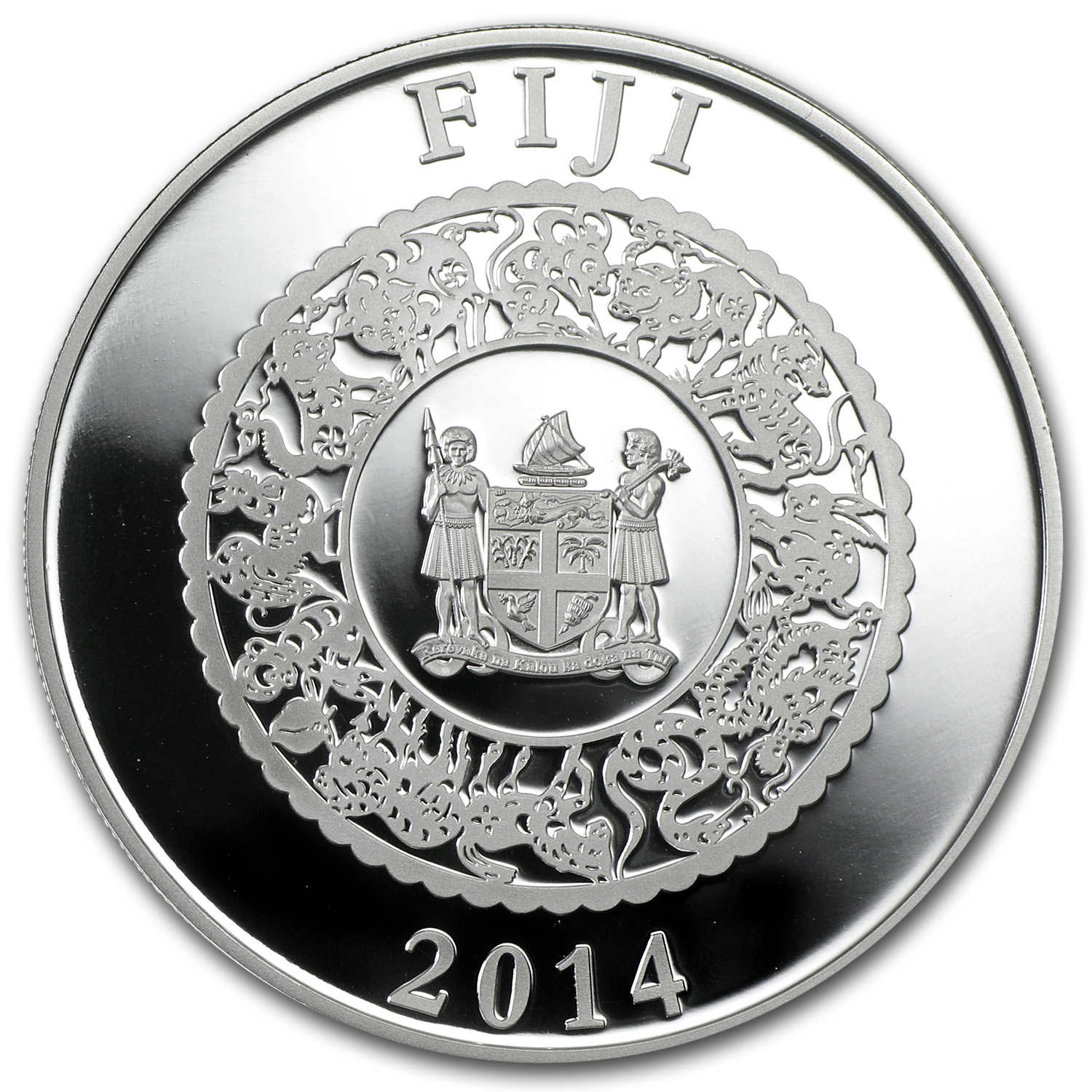 Fiji 2014 1 oz Silver Year of the Horse - Colored Lunar