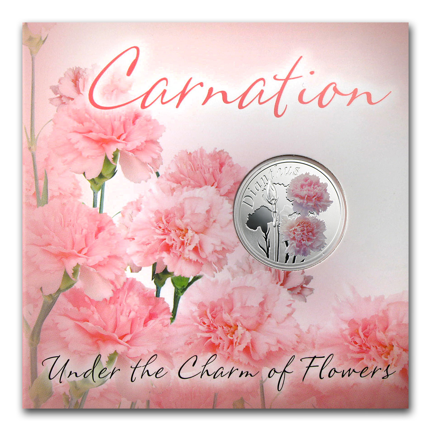 2013 Belarus Silver Proof Under the Charm of Flowers Carnation