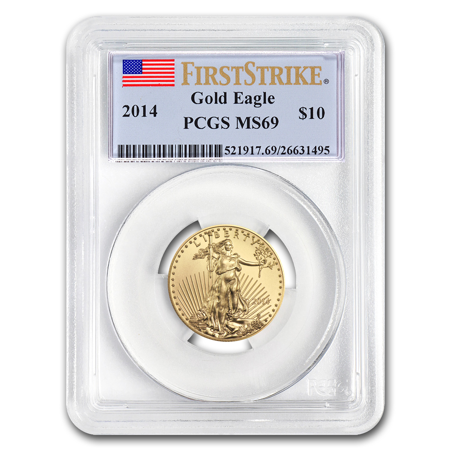 2014 1/4 oz Gold American Eagle MS-69 PCGS (FS)