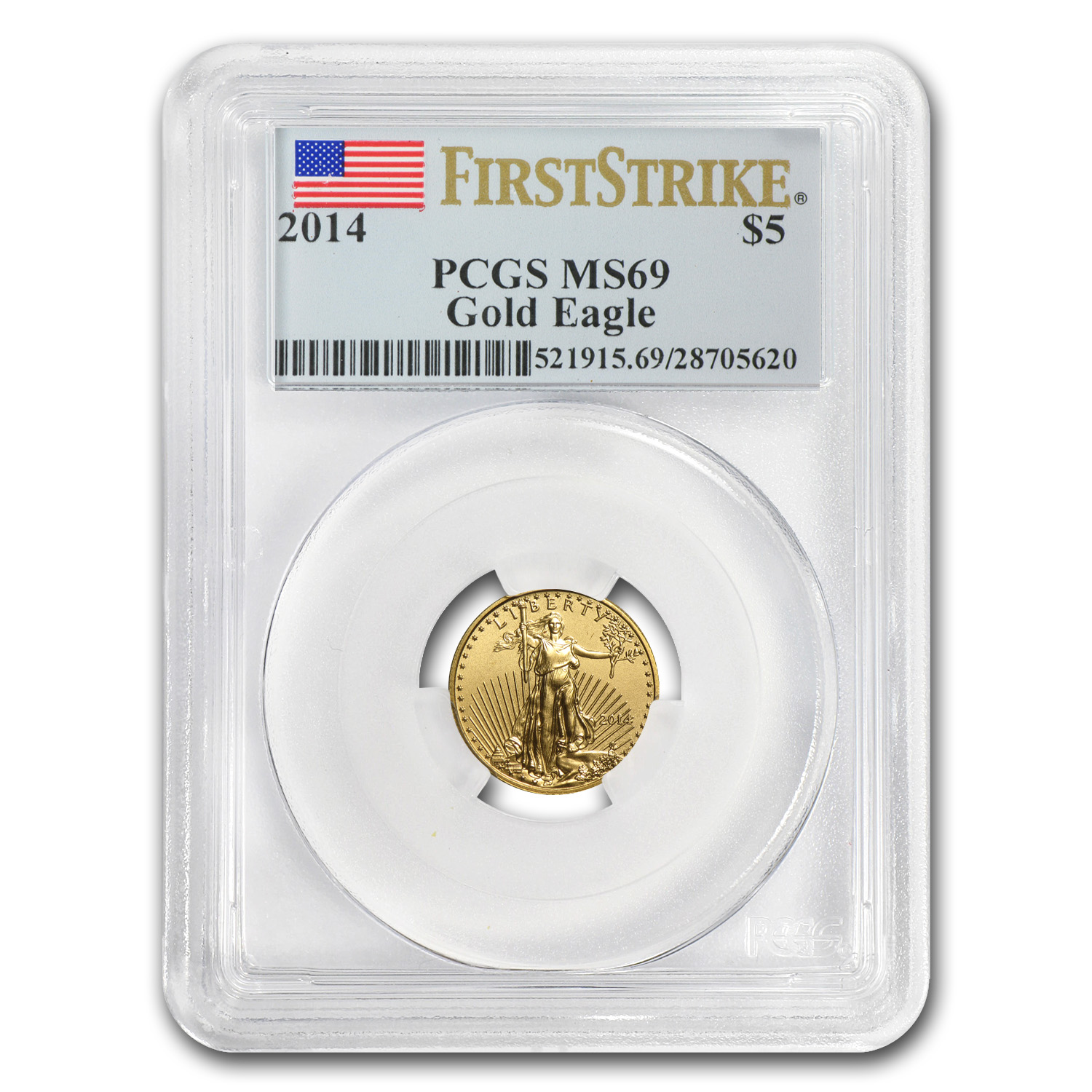 2014 1/10 oz Gold American Eagle MS-69 PCGS (FS)