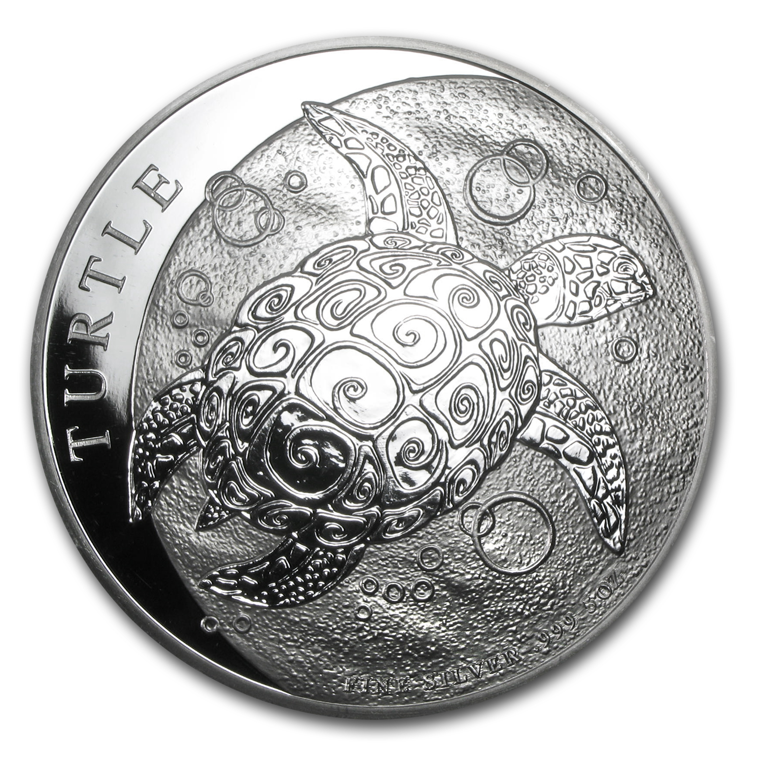 2014 5 oz Silver New Zealand Mint $10 Niue Hawksbill Turtle BU
